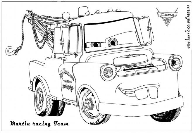 Coloriage et dessins gratuits Auto Martin de remorquage à imprimer