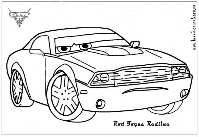 Coloriage et dessins gratuits Auto Rod dessin animé à imprimer