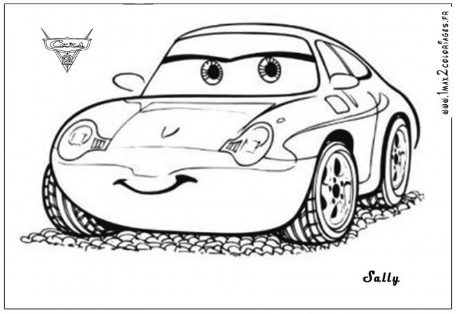 Coloriage et dessins gratuits Auto Sally mignonne à imprimer