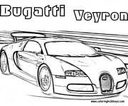 Coloriage Automobile Bugatti de Luxe