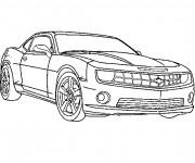 Coloriage et dessins gratuit Automobile Camaro à imprimer
