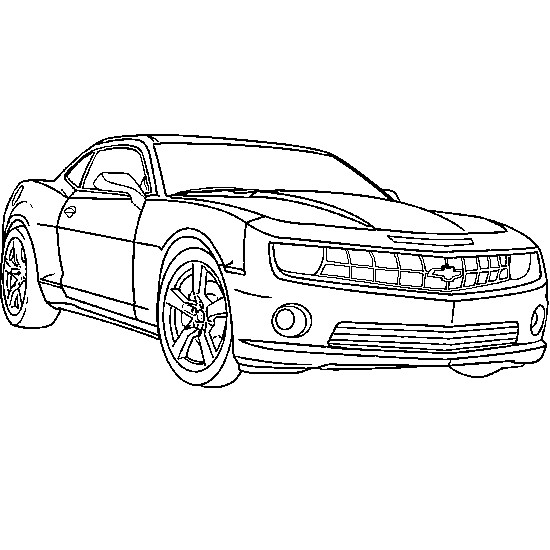 Coloriage Automobile Camaro dessin