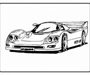 Coloriage et dessins gratuit Automobile de sport de luxe à imprimer