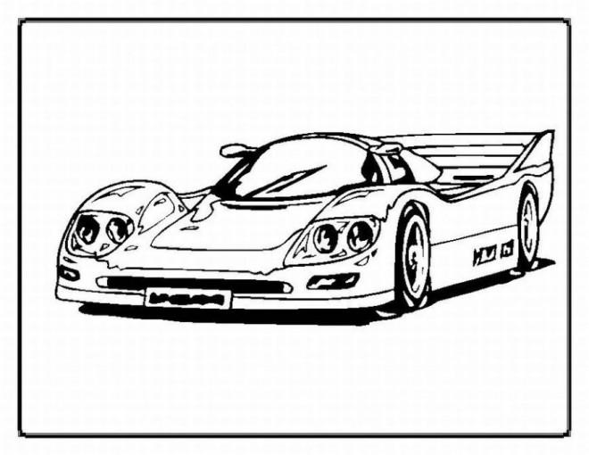 Coloriage et dessins gratuits Automobile de sport de luxe à imprimer