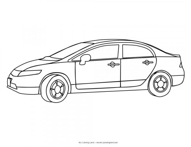 Coloriage et dessins gratuits Automobile maternelle à imprimer