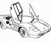 Coloriage et dessins gratuit Automobile Porte papillon à imprimer