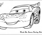 Coloriage Car de course Flash Mcqueen