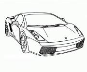 Coloriage Car de sport