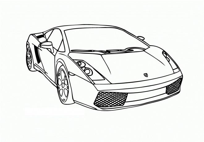 Coloriage et dessins gratuits Car de sport à imprimer