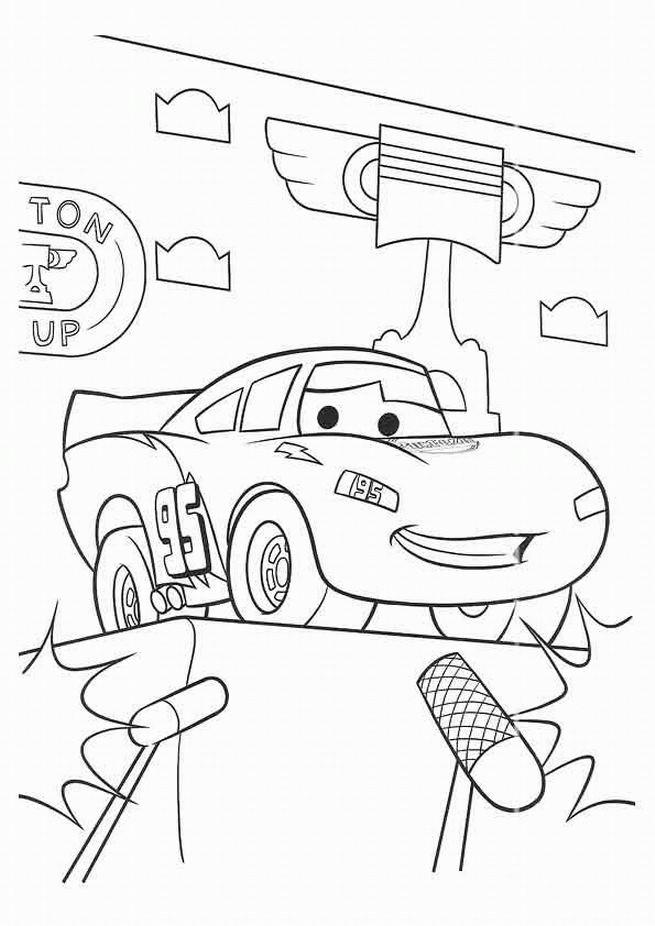 Coloriage et dessins gratuits Car Flash aimable à imprimer