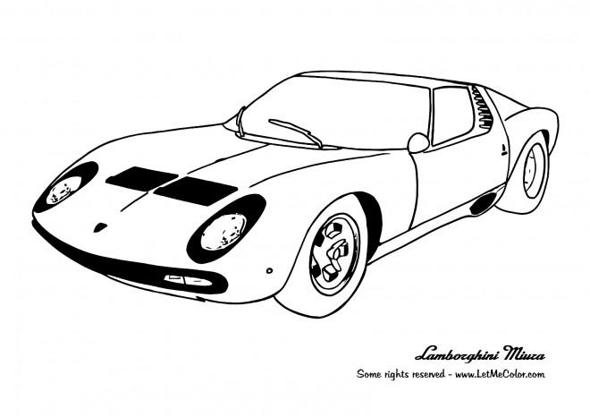 Coloriage et dessins gratuits Car Lamborghini Miuza à imprimer