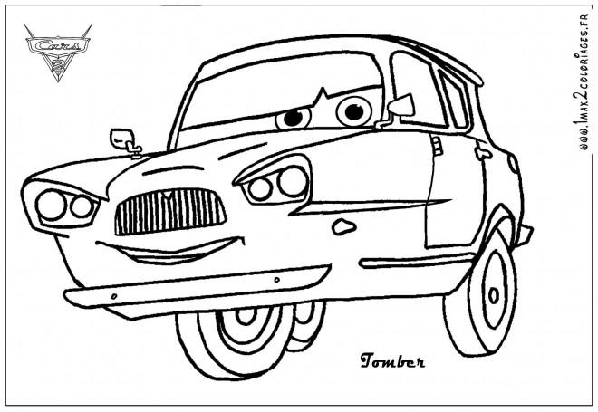 Coloriage et dessins gratuits Car Tomber à imprimer