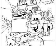 Coloriage Cars 2 Flash et Martin