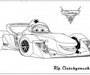 Coloriage et dessins gratuit Cars de course Rip à imprimer