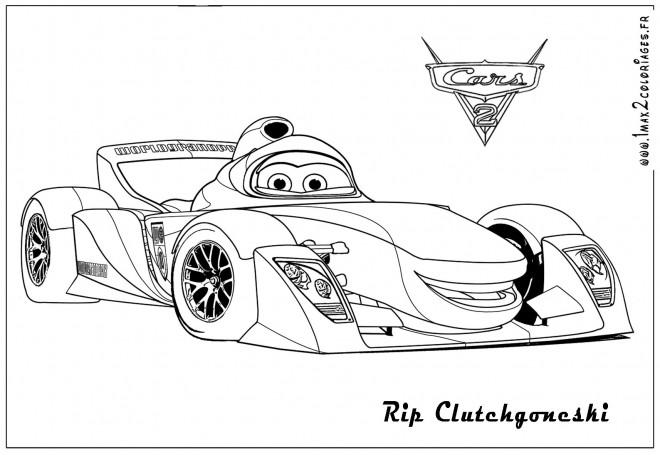 Coloriage Cars de course Rip dessin gratuit à imprimer