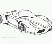 Coloriage et dessins gratuit voiture de course à imprimer
