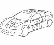 Coloriage et dessins gratuit Voiture de course numéro 9 à imprimer