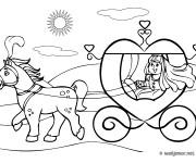 Coloriage et dessins gratuit Carrosse Cendrillon à imprimer