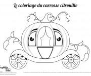 Coloriage et dessins gratuit Carrosse citrouille à imprimer