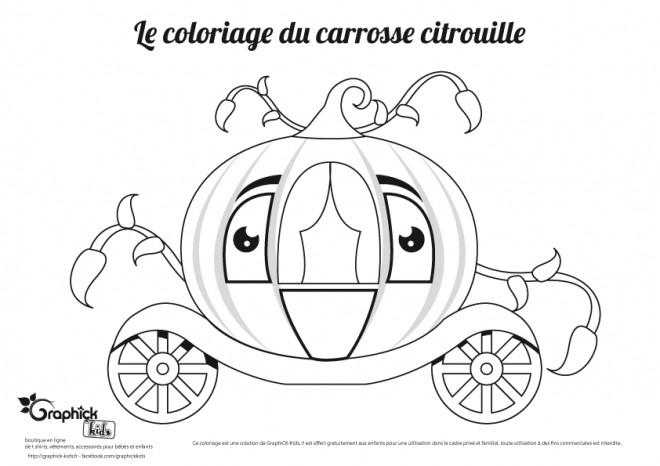 Dessin Carrosse coloriage carrosse citrouille dessin gratuit à imprimer
