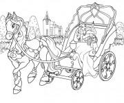 Coloriage et dessins gratuit Carrosse de Barbie à imprimer
