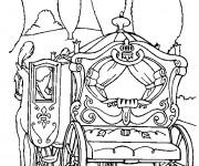 Coloriage et dessins gratuit Carrosse de Cendrillon Disney à imprimer