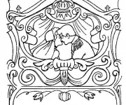 Coloriage et dessins gratuit Carrosse de mariage de princesse à imprimer