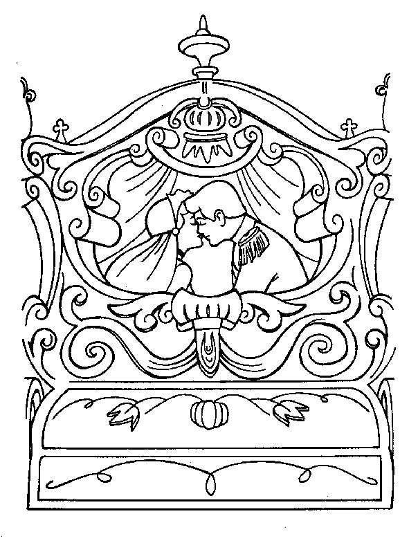 Coloriage et dessins gratuits Carrosse de mariage de princesse à imprimer