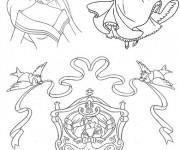 Coloriage et dessins gratuit Carrosse  de Prince et Princesse à imprimer