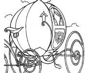 Coloriage et dessins gratuit Carrosse de princesse magnifique à imprimer