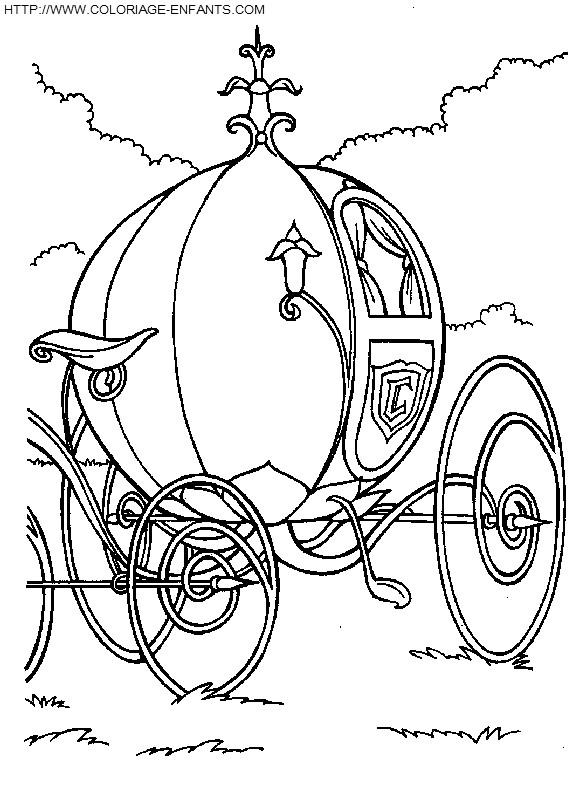 Coloriage carrosse de princesse magnifique dessin gratuit imprimer - Carrosse de princesse ...
