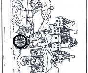Coloriage et dessins gratuit Carrosse dessin animé à imprimer