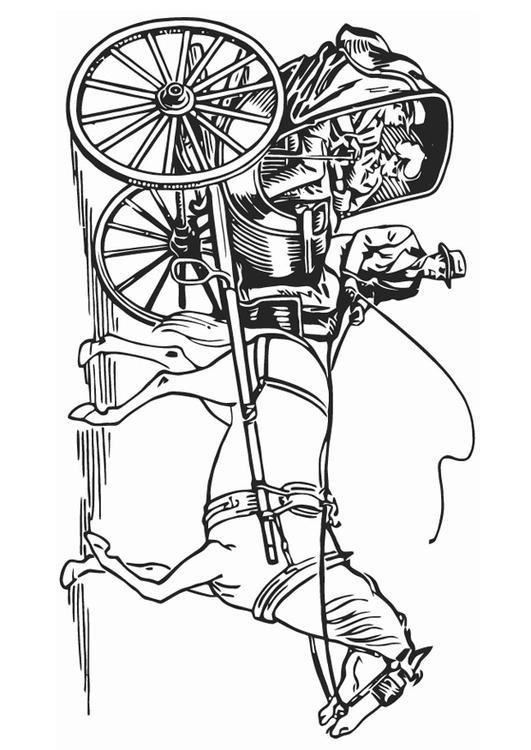 Coloriage et dessins gratuits Carrosse en noir à imprimer