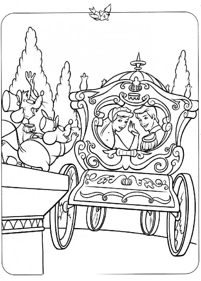 Dessin Carrosse coloriage carrosse mariage dessin gratuit à imprimer