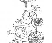 Coloriage et dessins gratuit Carrosse Princesse à imprimer