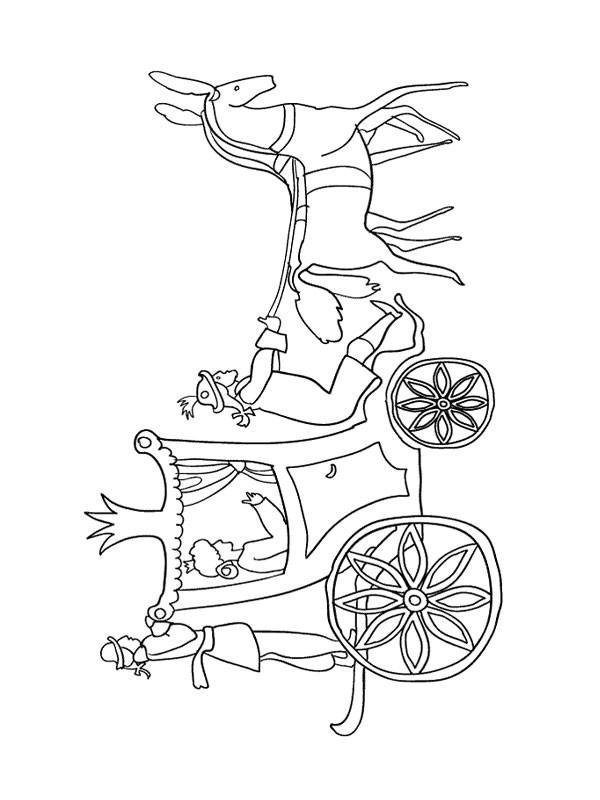 Coloriage et dessins gratuits Carrosse Princesse à imprimer