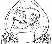Coloriage et dessins gratuit Carrosse Shrek à imprimer