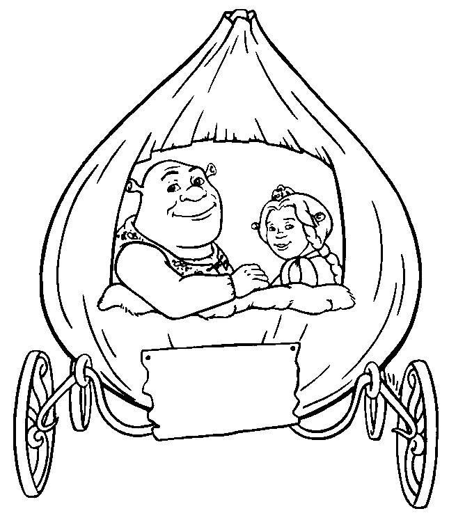 Coloriage et dessins gratuits Carrosse Shrek à imprimer