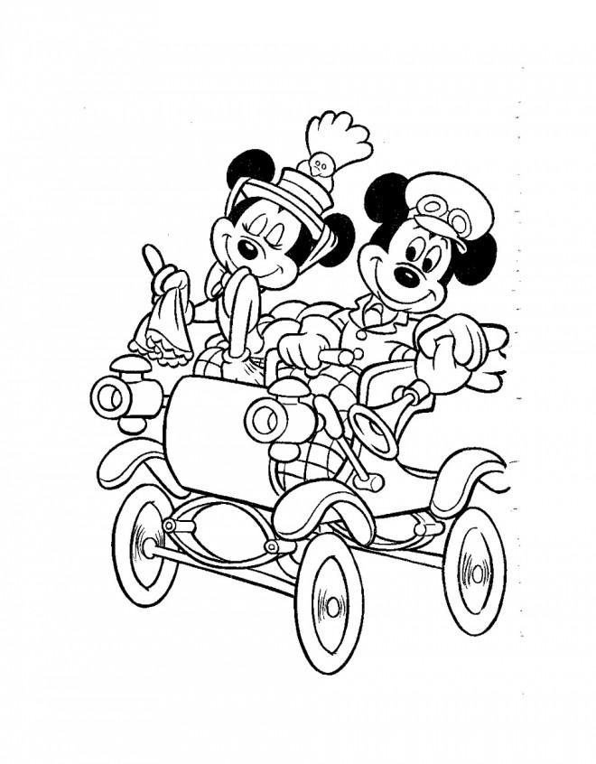 Coloriage mickey mouse dans sa carrosse dessin gratuit imprimer - Telecharger film mickey mouse gratuit ...