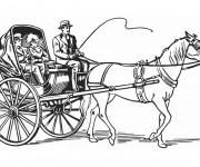 Coloriage Une Carrosse à cheval