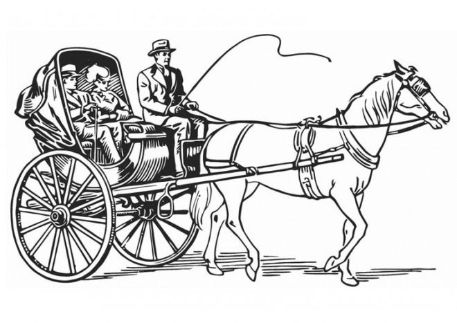 Coloriage et dessins gratuits Une Carrosse à cheval à imprimer
