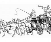 Coloriage et dessins gratuit Une Carrosse ancienne à imprimer