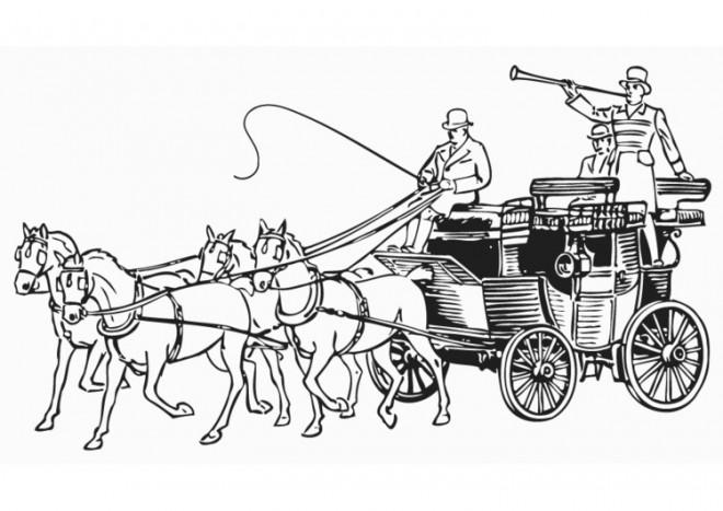 Coloriage et dessins gratuits Une Carrosse ancienne à imprimer