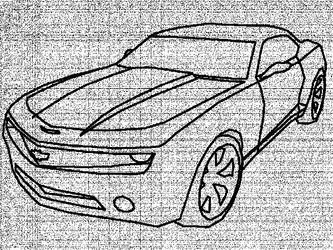 Coloriage et dessins gratuits Camaro dessiné par le crayon à imprimer