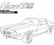 Coloriage et dessins gratuit Camaro modèle Z28 1970 à imprimer