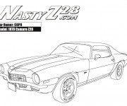 Coloriage Camaro modèle Z28 1970