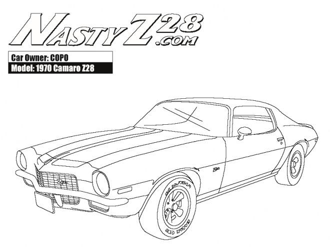 Coloriage et dessins gratuits Camaro modèle Z28 1970 à imprimer