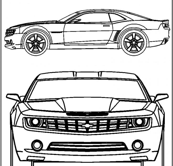 Coloriage et dessins gratuits Camaro Voiture Sport à imprimer
