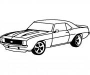 Coloriage et dessins gratuit Camaro ZL1 1969 à imprimer
