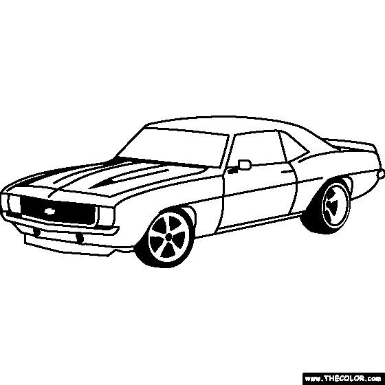 Coloriage et dessins gratuits Camaro ZL1 1969 à imprimer
